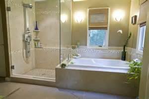 separate bath and shower caribbean flair master bath tropical bathroom