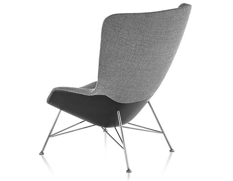High Back Lounge Chair by Striad High Back Lounge Chair With Wire Base Hivemodern