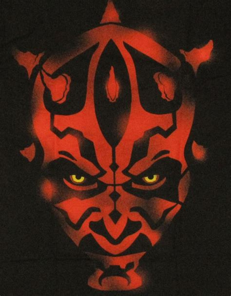 darth maul paint template wars yoda stencils