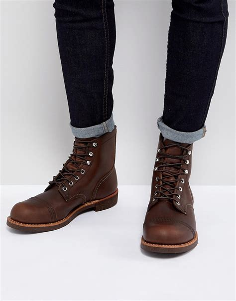 wing boots wing wing iron ranger leather boots at asos
