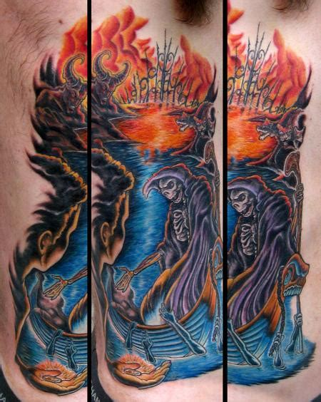 full side tattoos river styx color custom side by mike ledoux