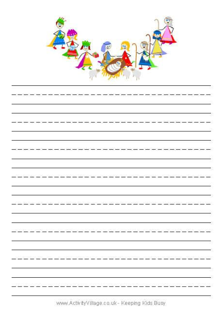 printable christmas story paper nativity writing paper