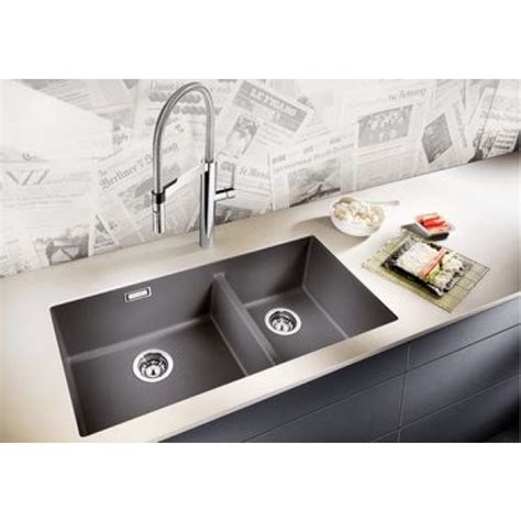Pull Out Kitchen Faucet blanco subline 480 320 u silgranite double bowl undermount