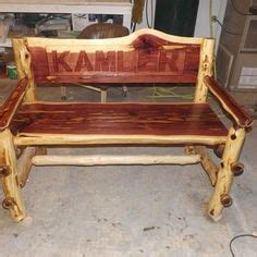 cedar log bench for the bus stop for the home pinterest cedar log bench for the bus stop my log furniture pinterest quinchos parrilla