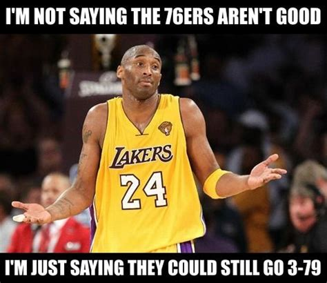 Kobe Bryant Injury Meme - 76ers can t even tank right nba memes http