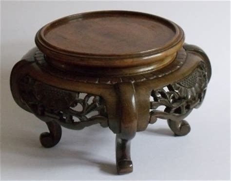 carved wooden bowl vase stand ebay