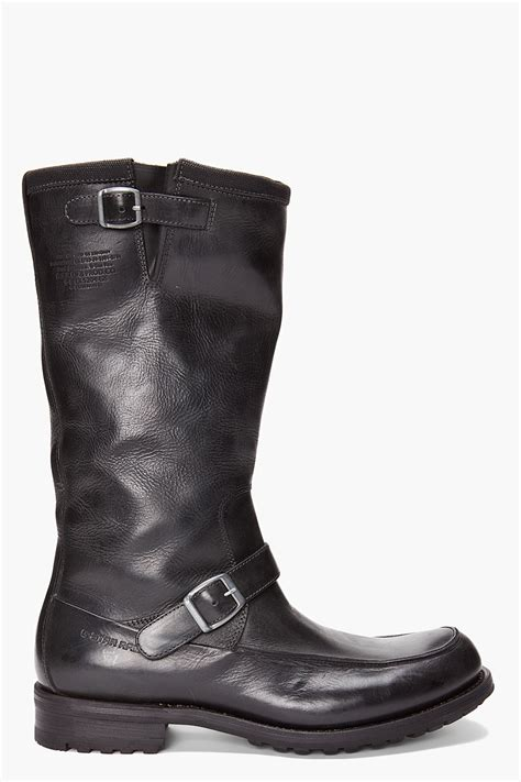 in rigger boots g rigger high moc boots in black for lyst