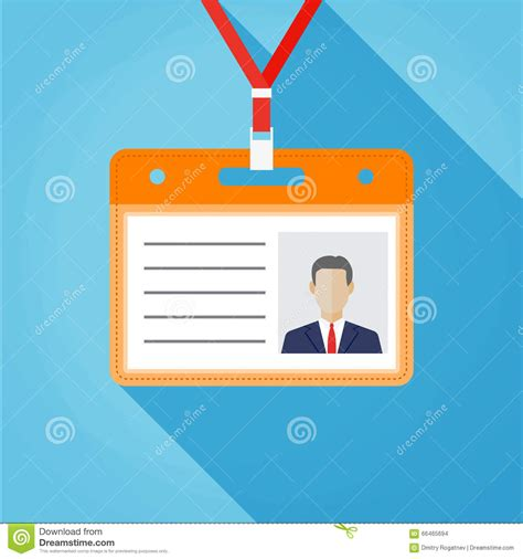 name tag design template flat design name tag badge template stock vector image