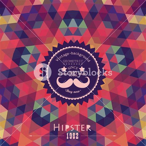design background hipster retro star vector backdrop mosaic hipster background made