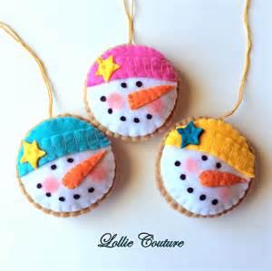 felt ornaments felt ornaments cookie felt by modernstyleholiday