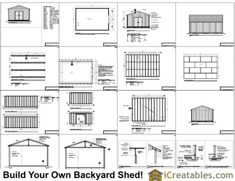 16x24 Shed Plans Large Shed Plans 16x24 House Plans