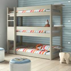 Bunk Bed With 3 Beds Bedroom 3 Tier Bunk Bed Bunkbed Modern Bunk Beds Other Metro By Cuckooland