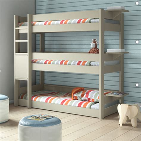 Bunk Beds With Three Beds Bedroom 3 Tier Bunk Bed Bunkbed Modern Bunk Beds Other Metro By Cuckooland