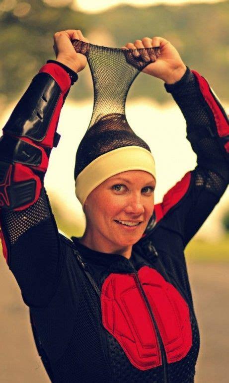 lady biker hairstyles helmet hed long hair gets some help gear reviews