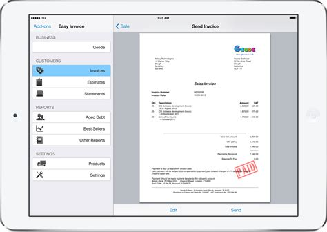 Invoice Template For Iphone by Pdf Invoicing For Iphone And Mac Easy Invoice