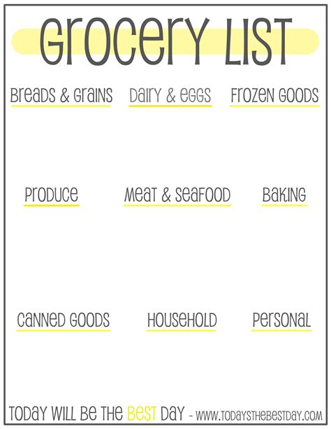 walmart shopping list template 6 best images of walmart grocery list printable free