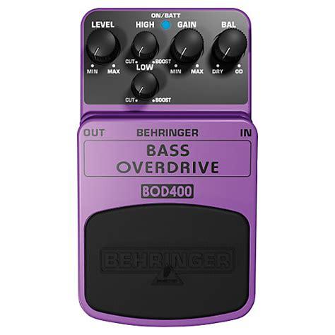 Behringer Bass Overdrive Bod400 behringer bass overdrive bod400 bass effects pedal