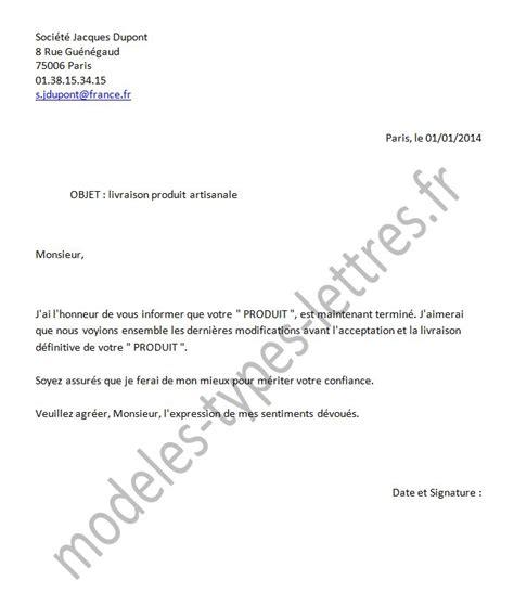 Tous Les Modeles De Lettre Mod 232 Le De Lettre Concernant La Livraison D Un Produit Artisanal