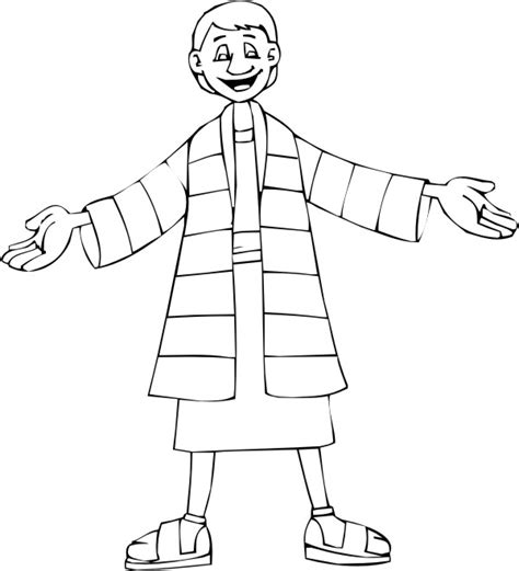 printable coloring pages joseph coat joseph and the coat of many colors coloring page with
