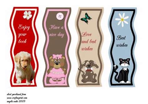 printable animal bookmarks animal bookmarks wavy cup34742 8 craftsuprint