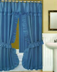 swag shower curtain with liner set blue 70x72