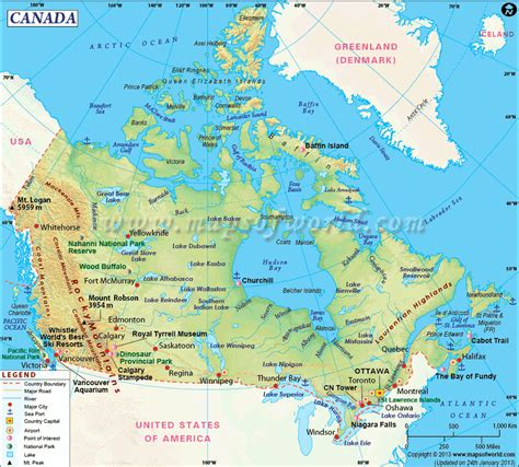 map us and canada major cities introduction landforms mr wood s grade 9 geography