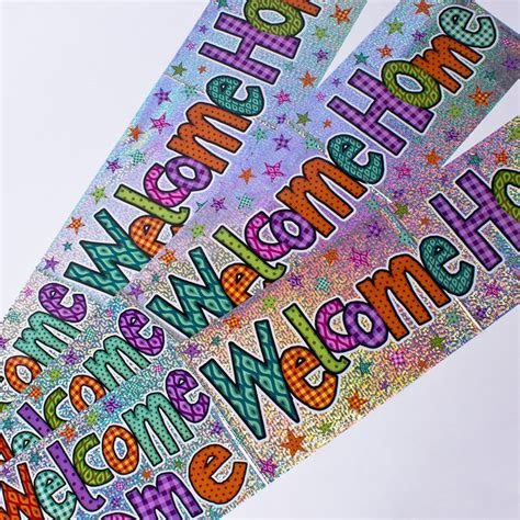 Wedding Banners At Card Factory by Holographic Foil Welcome Home Banners Only 99p