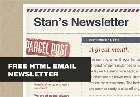free html newsletter templates for email free html email newsletter templates with psds smashing wall