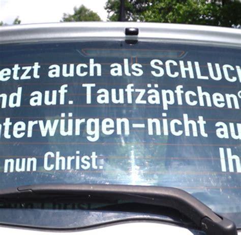 Auto Aufkleber Lustig by Autoaufkleber Ex Lehrer Wegen Gottesl 228 Sterung Verurteilt