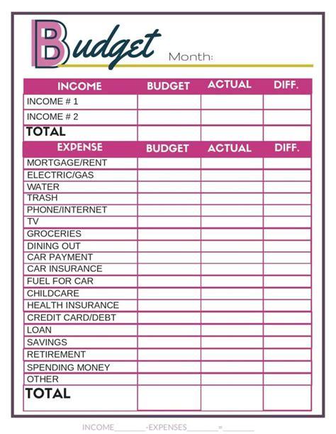 budget worksheets single moms income budgeting