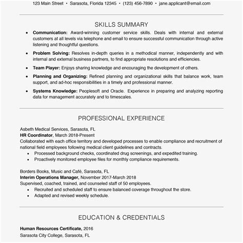 resume examples templates functional skills resume examples list