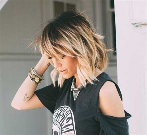 black short hair with blonde ombre 16 balayage hair color ideas with blonde brown and