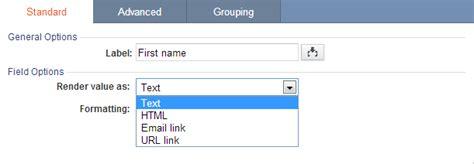 html format for url link field formatting options caspio online help