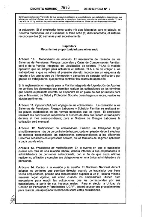 seguridad socialtrabajadores seguridad social trabajadores dependiente decreto 2616 del