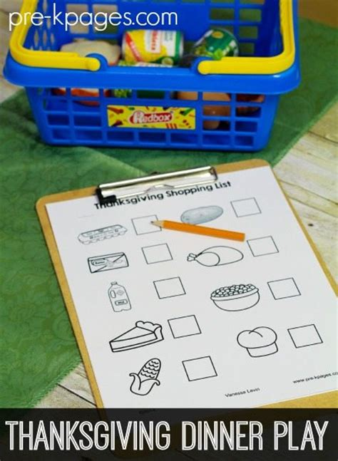 to play at a dinner free thanksgiving pretend play printables