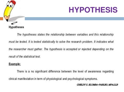 dissertation hypothesis thesis writing