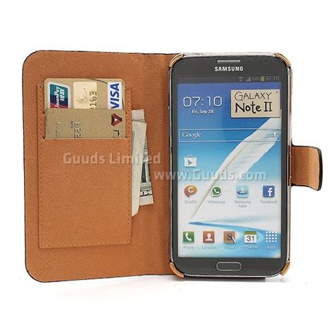Kesing Samsung Note 2 N7100 glossy snake leather for samsung galaxy note 2 note ii n7100 with built in wallet black