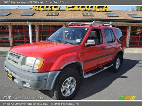 2000 nissan xterra se v6 4x4 in aztec red photo 2 aztec red 2000 nissan xterra se v6 4x4 dusk interior gtcarlot com vehicle archive 34800477