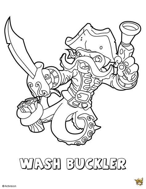Kaos Anime Minato Team Print Kaos Anime wash buckler est un coloriage de skylanders