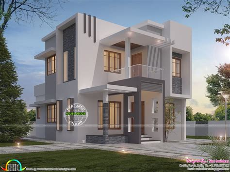 Small Villa Plans by Contemporary Style Small Storied Villa Kerala