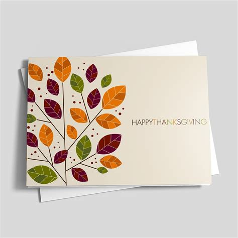 thanksgiving card modern change thanksgiving card leaves by brookhollow
