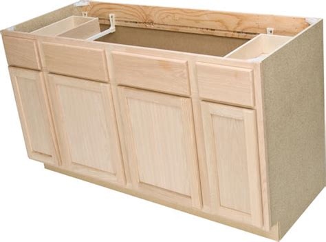 sink base kitchen cabinet quality one 60 quot x 34 1 2 quot unfinished oak sink base