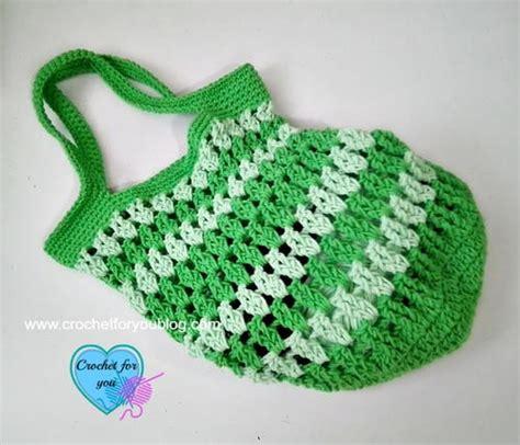 crochet grab bag pattern grab go crochet bag favecrafts com