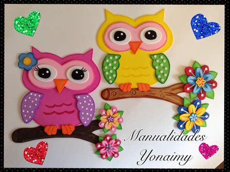 arbol hecho en fomix manualidades yonaimy buhos hechos de foamy o goma eva