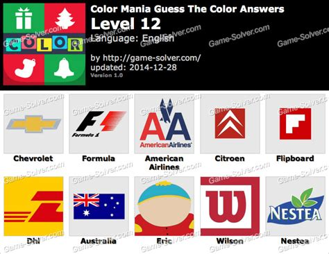 guess the color answers color mania guess the color level 12 solver