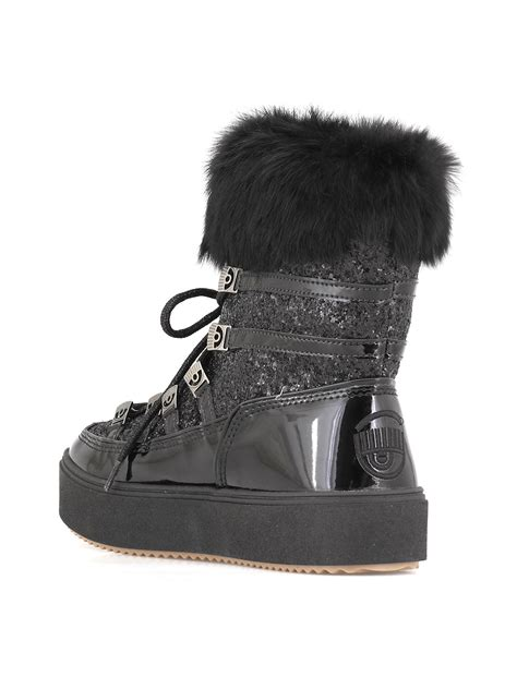 Chiara Ferragni Boots chiara ferragni snow boot black 10702474 italist