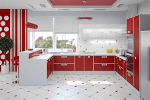 Kitchen Themes by Red Kitchen Decor For Modern And Retro Kitchen Design