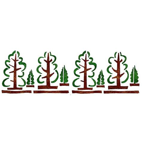 dekor schablone dekorschablone xl wald mit vier gro 223 en und vier kleinen b 228 umen