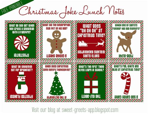 printable christmas notes 7 best images of christmas lunch box printables free