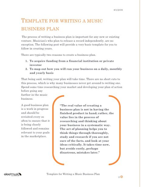 free studio business plan template template for writing a business plan